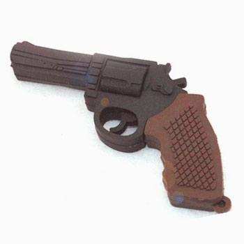 флешка  Револьвер (резиновый)