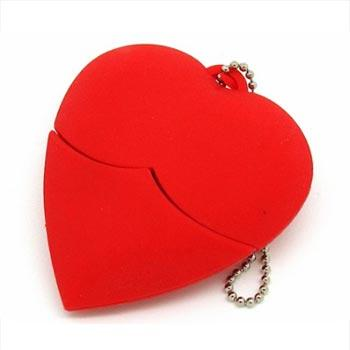 флешка сердечко MEMORYKING (ПВХ, красное)