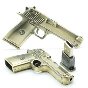 флешка MemoryKing  Пистолет металлический