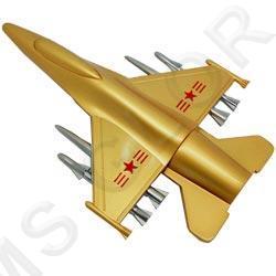 флешка MemoryKing   Самолет истребитель с вооружением (металлический VIP)