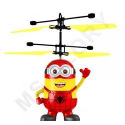 Летающий миньон Человек Паук (с датчиком, качественный, зарядка от USB шнур в комплекте)