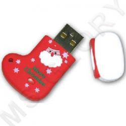 флешка  Apexto Красный Новогодний Носок