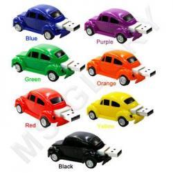 флешка  MemoryKing Машинки разноцветные (выдвижной разъем, крутящиеся колеса)